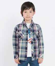 SHIPS KIDS/SHIPS KIDS:シャーリング チェック シャツ(100~130cm)/500830017