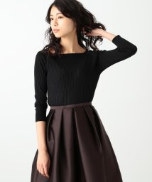 Demi-Luxe BEAMS/Demi-Luxe BEAMS / シルクリブ ボートネック ニット/500830808