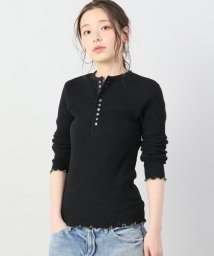 Spick & Span/【YOUNG&OLSEN】JAQUARD RIB HENLEY NECK/500832372