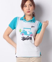 FILA GOLF/ニットベスト+半袖シャツ/500769303