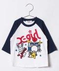 X-girl Stages/ミュージックプリントラグランスリーブTシャツ/500817856