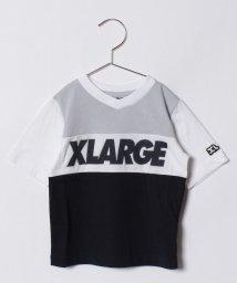 XLARGE KIDS/パネル切り替えロゴ入りVネックTシャツ/500817863