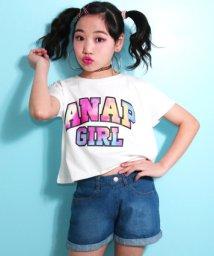 ANAP GiRL/マーブルロゴドルマンTシャツ/500823298