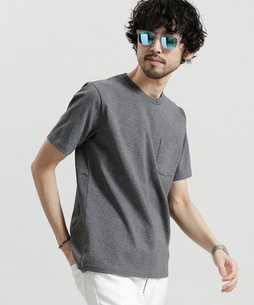 nano・universe(ナノ・ユニバース)/ポケット付きBig Tシャツ/6688123020