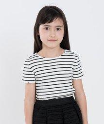 SHIPS KIDS/SHIPS KIDS:リブ フリル TEE(100~130cm)/500833871