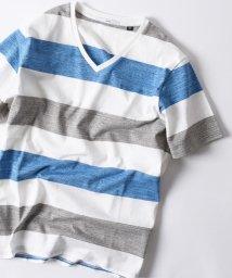 SHIPS MEN/SC: MADE IN JAPAN ワイドボーダー Vネック Tシャツ/500837647