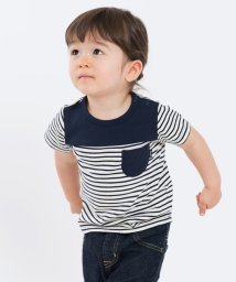 SHIPS KIDS/SHIPS KIDS:ボーダー ポケット TEE(80~90cm)/500837712