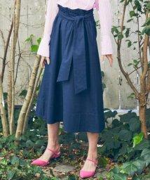 NIJYUSANKU/【洗える】コットンリネン ストレッチツイル スカート/500838036