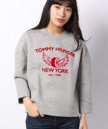 TOMMY HILFIGER WOMEN/コンフォートフィットロゴスウェットシャツ/500816844