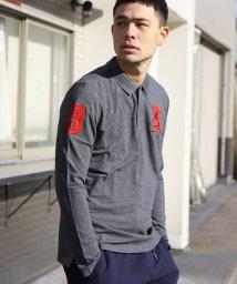 GIORDANOM/【ライクラファイバー使用】ライオン刺繍長袖ポロシャツ/500681167