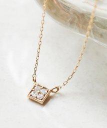 phoebe/【K10】スクエアパヴェダイヤモンドネックレス/500797727