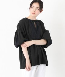 KAGURE/Tulle Embroidery Blouse/500840054