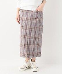 SLOBE IENA/マルチカラーチェックタイトスカート/500840076