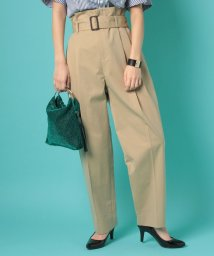 beautiful people/cotton twill paperbag waist pants/500654114