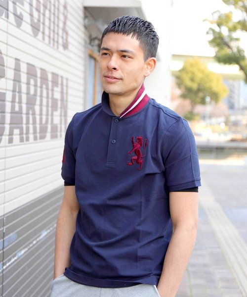 GIORDANO:3Dライオン刺繍ポロシャツ 画像2