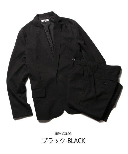 (スプ) SPU ストレッチ1ボタンテーラードジャケット&ストレッチパンツ