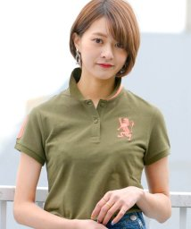 GIORDANOL/【ライクラ素材使用】3Dライオン刺繍ポロシャツ/500681215
