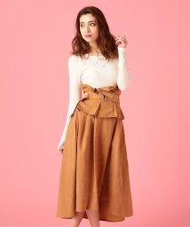 MIIA/タックベルト付きスカート/500723211