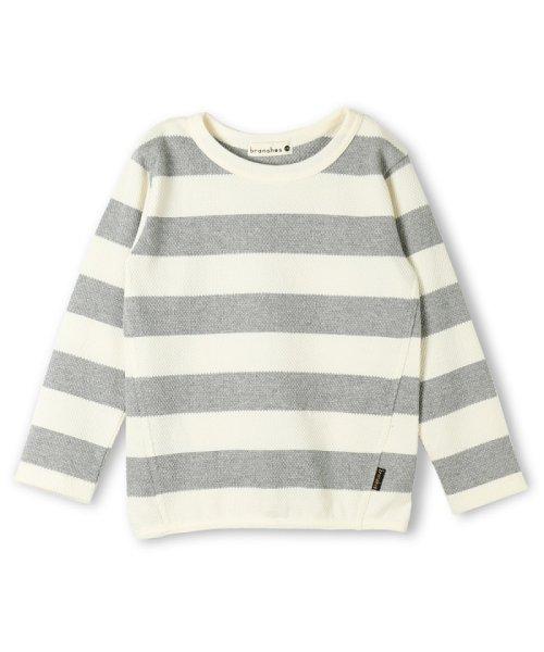 branshes(ブランシェス)/ハチス編みボーダー長袖Tシャツ/118105361