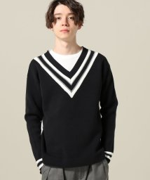 JOINT WORKS/SUPER THANKS / スーパーサンクス LINE-RIB V-NECK KNIT/500845252