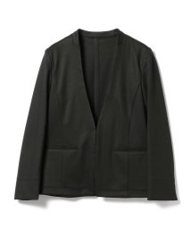 BEAMS OUTLET/【洗える】Demi-Luxe BEAMS / ポンチ ノーカラー Vネックジャケット/500804366