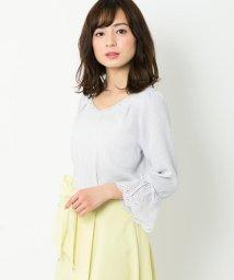 MISCH MASCH/袖刺繍ビジューブラウス/500828086