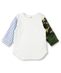 branshes/異素材切替え7分袖Tシャツ/500841407
