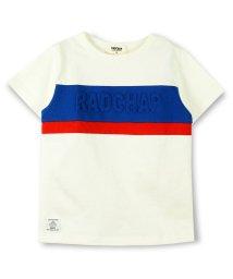 RADCHAP/立体ロゴ切替えTシャツ/500841430
