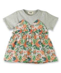 RADCHAP/ボタニカル切替え半袖Tシャツ/500841435