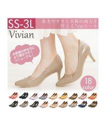 Vivian/★ポインテッドトゥ7cmキレイめパンプス/500844775