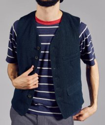 URBAN RESEARCH/FREEMANS SPORTING CLUB INDIGO SASHIKO VEST/500847321