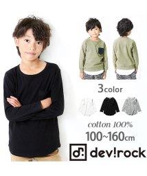 devirock/裾ラウンドロング丈長袖Tシャツ ロンT カットソー/500843936