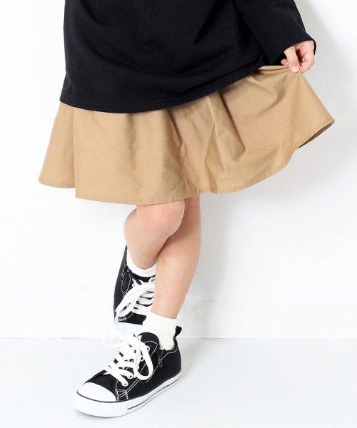 devirock(デビロック)/インナーパンツ付きミニ丈ボリュームギャザースカート/DT-212