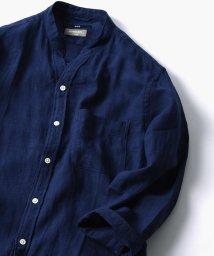 SHIPS MEN/SC: COOLMAX(R) リネン スキッパー バンドカラー シャツ/500847449