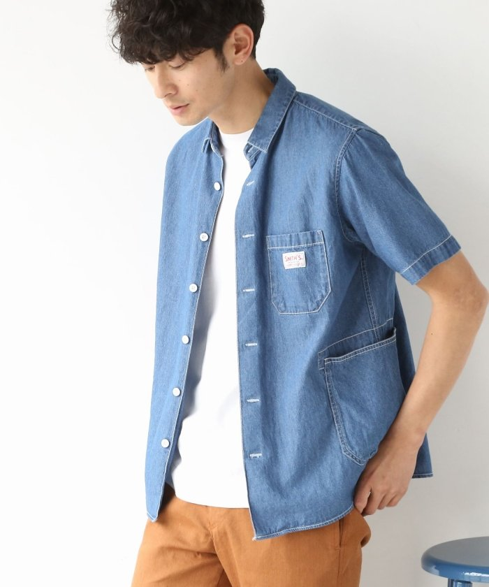 coen:SMITH別注半袖ワークシャツ18SS 画像1