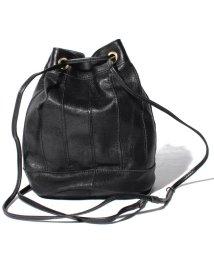 perche/ペルケ perche / エアリーゴートパッチワーク巾着バッグ/500829331