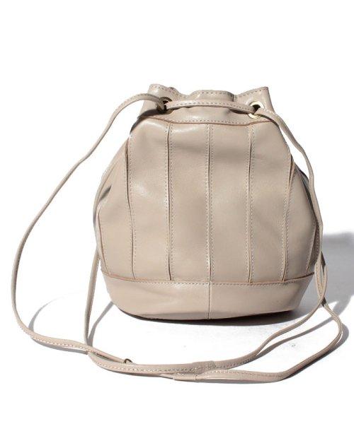 perche(ペルケ)/ペルケ perche / エアリーゴートパッチワーク巾着バッグ/080007640