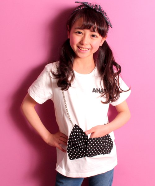 ANAP KIDS(アナップキッズ)/リボンモチーフTシャツ/0430301357