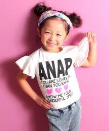 ANAP KIDS/袖フリルラメプリントトップス/500841968