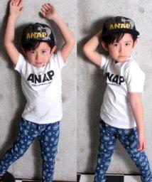 ANAP KIDS/シンプルロゴTシャツ/500843634
