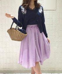 Noela/★【美人百花4月号掲載】刺繍アンサンブルニット×スカートSET/500846575