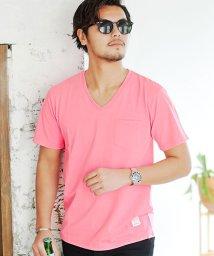 CavariA/CavariA【キャバリア】ポケット付きVネック半袖Tシャツ/500853018