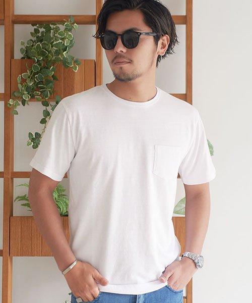 CavariA(キャバリア)/CavariA【キャバリア】ポケット付きクルーネックTシャツ/CARYU16-01