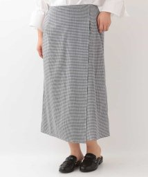 eur3/【大きいサイズ】ギンガムチェックラップデザインスカート/500818947