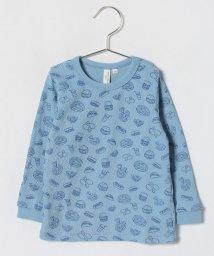LAGOM/フード柄ワッフル長袖Tシャツ/500841056