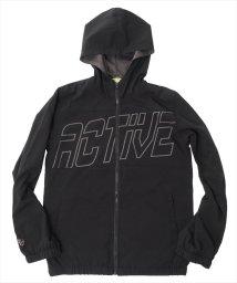 ACTIVE GLAZOS/ストレッチタフタ・ビッグロゴデザインジャケット/500852499
