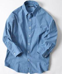 SHIPS MEN/SC: シャトル織り レギュラーカラー 7スリーブシャツ/500853312