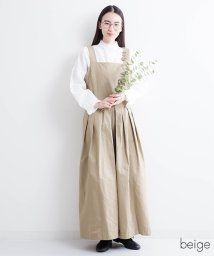 fillil/アースカラー 切替プリーツワイドサロペット/500854316
