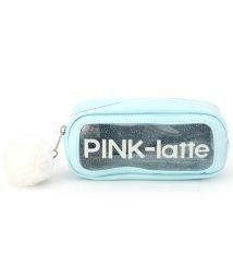 PINK-latte/ポンポンチャーム横長ポーチ/500854430
