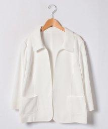 Leilian PLUS HOUSE/【19+】コットン羽織りジャケット/500807821